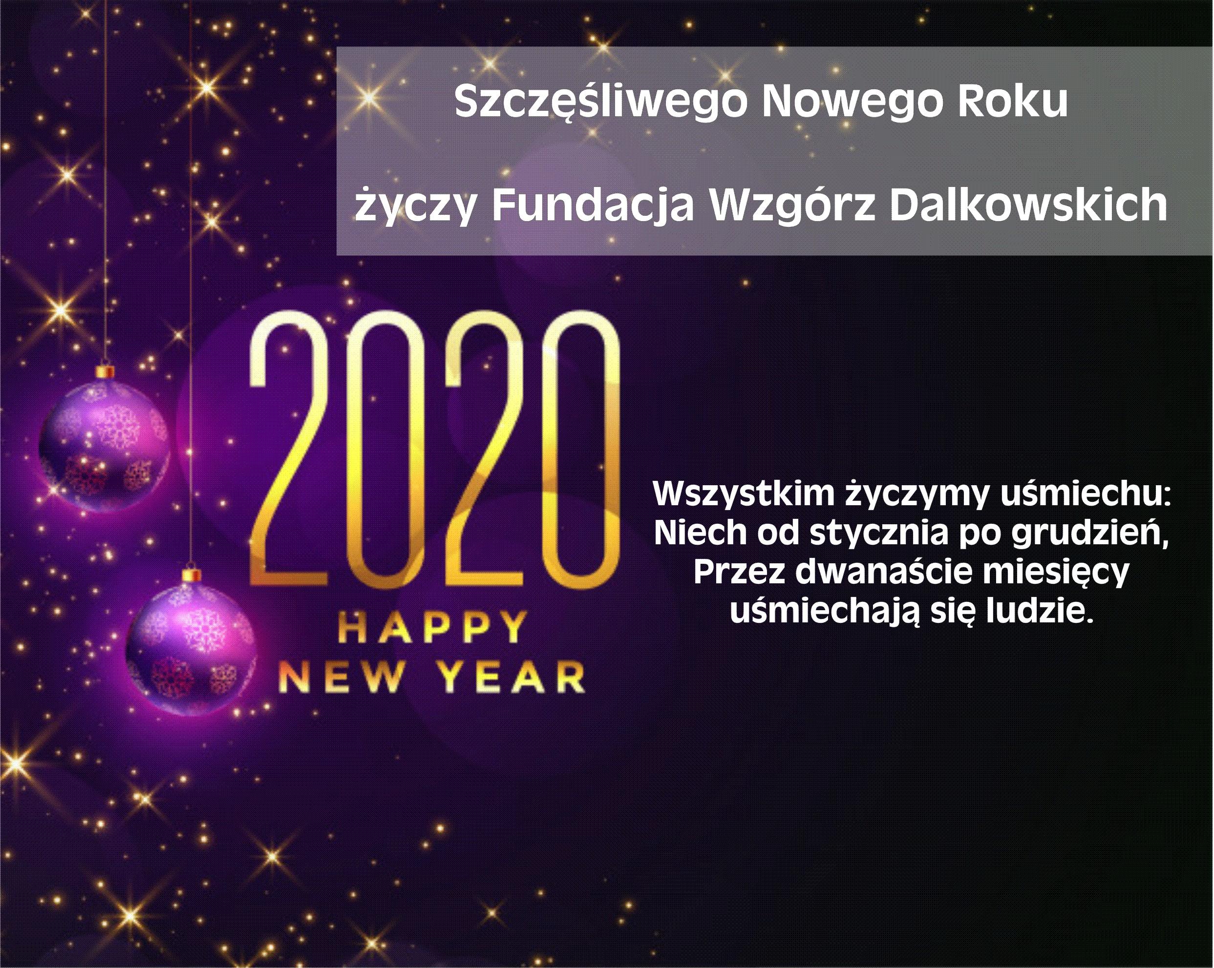 Wszystkiego Dobrego w nowym roku 2020